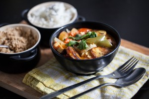 Smoked Tofu & Plantain Moqueca (Coconut Brazilian stew)